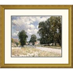 """Global Gallery 'The Road To Marly-Le-Roi' by Alfred Sisley Framed Painting Print Size: 22.96"""" H x 26"""" W x 1.5"""" D"""