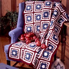 Leisure Arts - American Heritage Granny Afghan Crochet Pattern ePattern, $4.99 (http://www.leisurearts.com/products/american-heritage-granny-afghan-crochet-pattern-digital-download.html)