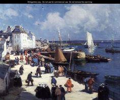 """""""Le Port de Douarnenez"""" - Henri Alphonse Barnoin"""