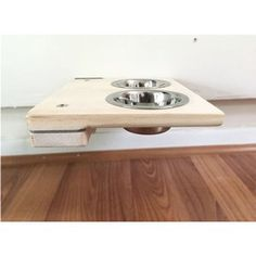 """3"""" Cat Mod Feeder Handcrafted Elevated Wall-mounted Feeder Shelf Cat Tree"""