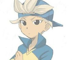 Gouenji  | his hat...is the backwards xD |