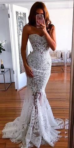 Mermaid Wedding Dresses You Admire ❤ See more: http://www.weddingforward.com/mermaid-wedding-dresses/ #weddingforward #bride #bridal #wedding