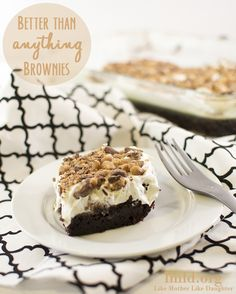 Instead of cake, try better than anything brownies. These are the  best brownies ever. #lmldfood