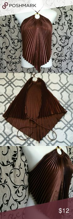 Halter Top Cute open back fan style top, size M, tie around neck and back, casual/club, goes nice with tights/jeans/skirt Tru Gossip  Tops