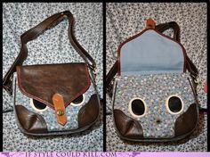 All you need is a purse with a short, beak-colored strap, and the fabric.
