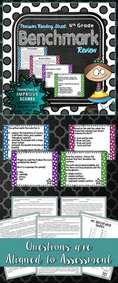 This Reading Street Benchmark Review will help your 4th grade students prepare for their Unit 1 Benchmark Assessment!  #teachersfollowteachers #teacherspayteachers #tpt #iteachtoo #teachers #education #learning