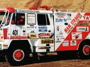 Dakar 1994 Tatra 815 Truck Free Vehicle Paper Model Download