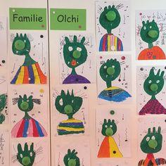 Heute ist Familie Olchi in unsere Klasse eingezogen... Die Kinder hatten richtig Spaß beim Gestalten! Die grünen Wasserbomben sind richtig tolle Olchiknubbelnasen! #klasse2 #kunstunterricht #olchis #grundschulideen #teachersfollowteachers #teachersofinstagram