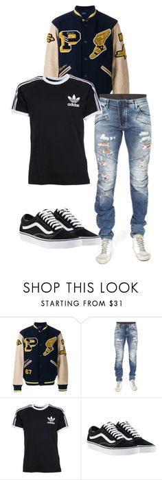 """hidden scars fashion collectsion"" by kariasmarshall on Polyvore featuring Polo Ralph Lauren, adidas, Vans, men's fashion and menswear"