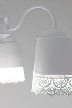 Ikea Skurar plant pots as lamp shades - IKEA Hackers