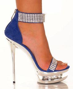 "Sexy 5 1/2"" Heels, Platform Shoes Genuine Suede Upper #Diamond-11"