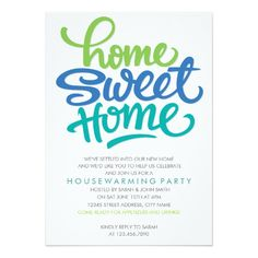 Home sweet home Wall Stickers, Wall Decals, Wall Art, Housewarming Party Invitations, Sweet Home, Paper Cards, Decoration, Stencil, House Warming