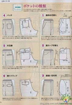 Trendy Ideas For Sewing Pants Tutorial Style Techniques Couture, Sewing Techniques, Sewing Pants, Sewing Clothes, Diy Pantalon, Pants Tutorial, Japanese Sewing Patterns, Modelista, Sewing Studio