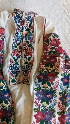 Serafynivtsi Floral Tie, Cross Stitch, Traditional, Embroidery, Shirts, Outfits, Beauty, Dresses, Fashion