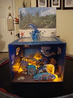 Light-up Dolphin Diorama School Project