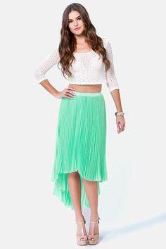 #Lulus                    #Skirt                    #Accordion #Plan #Mint #Pleated #Skirt              Accordion to Plan Mint Pleated Skirt                                          http://www.seapai.com/product.aspx?PID=1815187