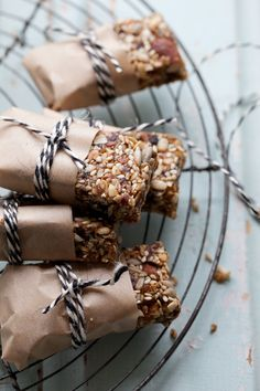 Toasted Seed and Almond Bars with Salted Date Caramel :: Sonja Dahlgren/Dagmar's Kitchen