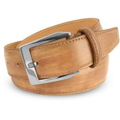 Pakerson Men's Sand Hand Painted Italian Leather Belt ($210) ❤ liked on Polyvore featuring mens, men's accessories and men's belts
