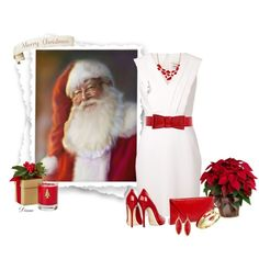 """""""Red and White Christmas"""" by diane-shelton on Polyvore"""