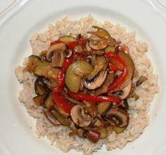 Caramelized Vegetable Brown Rice Bowl, Vegan Dinner Recipe