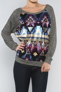 Tribal sequin top - my new pattern <3 I can't stop !