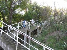 Climbing steps like this each and every day as a youngster.  The city of Pittsburgh has 712 public stairways with a total of 44,645 steps according to Bob Regan's The Steps of Pittsburgh.