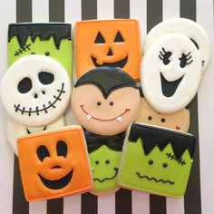 halloween cookies decorated Icings by Ang - Halloween Cookies - 2014 Halloween Cookie Recipes, Halloween Cookies Decorated, Halloween Sugar Cookies, Halloween Desserts, Halloween Treats, Halloween Fun, Spooky Treats, Fall Treats, Decorated Cookies