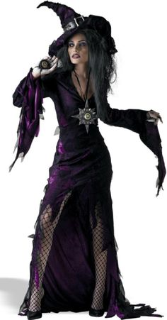 Sorceress Witch Halloween Costume for women.