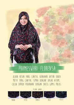 Pilihan Jilbab besar syar'i lainnya, kami punya PRAMESWARI FLORENSA... dgn motif cantik. silahkan hub AGEN MEIDIANI terdekat atau hub 081910338486
