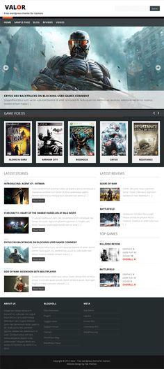 Valor - Free Gamers Wordpress theme