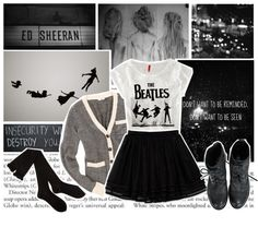 """""""Don't wanna be reminded, don't wanna be seen.."""" by your-my-kryptonite9 ❤ liked on Polyvore"""