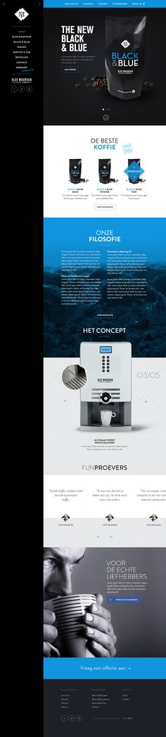 Blue Mountain homepage by Tom for Blink Interactive