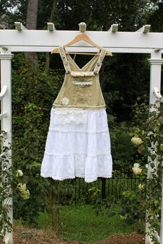 Shabby+Chic+Linen+Overalls+Dress+Hand+Dyed+Boho+by+JosefineandMe,+$48.00