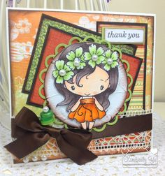 Thank You card  The Greeting Farm Anya by kimbeesdesigns on Etsy