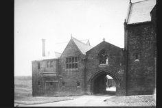 How creepy - where is this?? Troy Orphan Asylum, entrance gate, Troy, NY; 1910