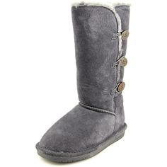 BEARPAW Womens Lauren Winter Boot Charcoal 8 M US * Learn more by visiting the image link. (This is an affiliate link) Faux Fur Boots, Grey Boots, Bearpaw Boots, Ugg Boots, Suede Shoes, Shoes Heels Boots, Low Heel Boots, Mid Calf Boots, Winter Boots