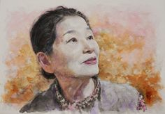 Acoustic Drawings The Shinji Ogata Gallery: A Portrait of My Mother (Colour) 母の肖像画 (カラー)