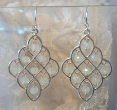 Shimmering Moonstone Chandeliers Chandeliers, Magic, Drop Earrings, Holiday, Jewelry, Transitional Chandeliers, Jewellery Making, Vacation, Jewelery