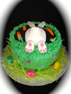 easter cake decoration ideas project for awesome photos on cake easter decorating ideas jpg Easter Cake Images, Easter Cake Easy, Easter Bunny Cake, Easter Cookies, Easter Treats, Fondant Cakes, Cupcake Cakes, Cupcakes, Spring Cake