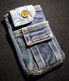 IPhone Case  Recycled Denim by fiberfanaticfandango on Etsy, $22.00