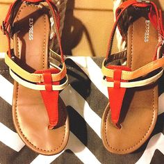 Express sandals size:6 Gently worn. Excellent condition Express Shoes Sandals