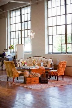 wedding lounge by Maggpie Vintage Rentals