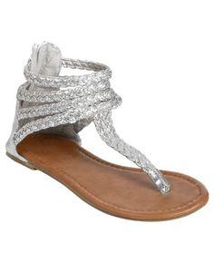 Metallic #Gladiator #Sandal http://www.wetseal.com/catalog/product.jsp?categoryId=109=57501=BLACK