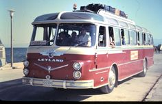 Our tour bus. British buses everywhere back then. Busse, Classic Motors, Train Travel, Coaches, Athens, Touring, Transportation, Advertising, Public