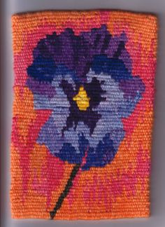Pansy - tapestry weaving                                                                                                                                                                                 More