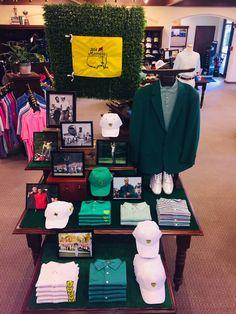 The Master Golfer Visual Merchandising Fashion, Retail Merchandising, Merchandising Ideas, Clothing Store Displays, Clothing Store Design, Shop Displays, Golf Pro Shop, I Miss You Wallpaper, Trophy Design
