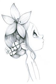 Art Drawings Beautiful, Beautiful Sketches, Cool Art Drawings, Pencil Art Drawings, Doodle Drawings, Colorful Drawings, Art Sketches, Nature Drawing, Mandala Drawing