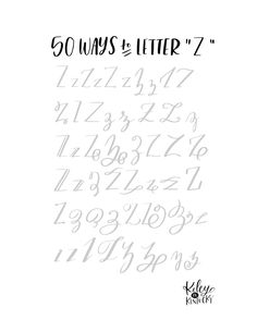 50 Ways To Letter Z - Lettering letters Lettering Guide, Creative Lettering, Types Of Lettering, Lettering Styles, Brush Lettering, Hand Lettering Practice, Hand Lettering Alphabet, Calligraphy Letters, Hand Lettering Tutorial