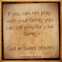 Pray for your family! God Answers Prayers, Answered Prayers, Praying For Your Family, Inspirational Verses, Biblical Inspiration, Sign Quotes, Bible Verses, Scriptures, Christian Quotes