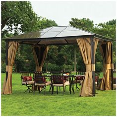 Wilson & Fisher® Regency Hardtop All-Season Gazebo...this is 200  dollars less expensive than the one from Lowe's however it may not be of comparable quality...